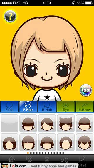 My idol make my own avatar